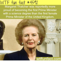 """<p><a class=""""tumblr_blog"""" href=""""http://wtf-fun-factss.tumblr.com/post/129372576862"""">wtf-fun-factss</a>:</p> <blockquote> <p>Margaret Thatcher - <b> <b> <a href=""""http://wtffunfact.com/"""">WTF fun facts</a></b></b><br/></p> </blockquote>  <p>Probably because her entire political platform didn&rsquo;t boil down to &ldquo;muh vagina doh&rdquo;.</p>: WTF fun fact #4592  Margaret Thatcher was reportedly more  proud of becoming the first Prime Minister  with a science degree than the first female  Prime Minister of the United Kingdom  wtffunfact.com <p><a class=""""tumblr_blog"""" href=""""http://wtf-fun-factss.tumblr.com/post/129372576862"""">wtf-fun-factss</a>:</p> <blockquote> <p>Margaret Thatcher - <b> <b> <a href=""""http://wtffunfact.com/"""">WTF fun facts</a></b></b><br/></p> </blockquote>  <p>Probably because her entire political platform didn&rsquo;t boil down to &ldquo;muh vagina doh&rdquo;.</p>"""