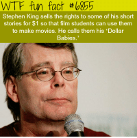 Books, Family, and Jeff Bezos: WTF fun fact #b855  Stephen King sells the rights to some of his short  stories for $1 so that film students can use them  to make movies. He calls them his 'Dollar  Babies. egmon73: disastergeek:  aura218: Sometimes around like 95 he said he didn't need more money. He's given away literally millions to his town (he had a little league field(?) build so his kid's team could play) and to other notable charities for decades. He said, and has written in his books, that there's only so much money a person needs and the rest is just vanity. He was taught that as a child and lived it as a multi-millionare (which he never truly was – bc he gave it away).He and his family lived in the same modest suburban house in the same modest Maine town since the 70s.  And then there's Jeff Bezos.  sometimes is heart-warming to see that indeed good people still exist
