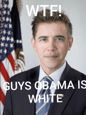 Obama, Wtf, and White: WTF!  GUYS OBAMA IS  WHITE WAIT WHY IS HE WITE OBAMER