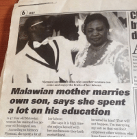 Oh no 😭 three words only 😂😂👇🏾 . KraksTV: WTF  ing  dat  tes  his  is r  in  ha  ile  Njemani sayre is no way another woman can  come and enjoy the fruits of her labour.  Malawian mother marries  own son, says she spent  a lot on his education  A 47 Year old Malawian  woman has married her 30-  year old biological son.  her labour  invested in him? That will  not happen. I'm marrying  She says it is high time  According to Memory  Njemani, she spent a lot of  she enjoys herself with  her son because they both  my son so that we don't  empower other women who  worked hard  have hoon nhG Oh no 😭 three words only 😂😂👇🏾 . KraksTV