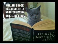 WTF...THIS BOOK  HAS ABSOLUTELY  NO INFORMATION  ON KILLING BIRDS  TO KILL  BIRD The Funny~