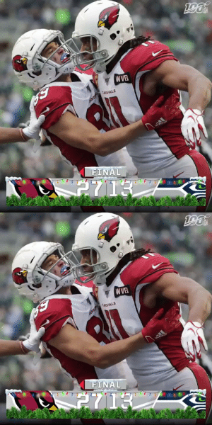FINAL: The @AZCardinals win in Seattle! #AZvsSEA #RedSea https://t.co/tl0vhaZcos: WVB  CARDINALS  FINAL  2713  CARDAL   WVB  CARDINALS  adidas  FINAL  2713  CARDIAL FINAL: The @AZCardinals win in Seattle! #AZvsSEA #RedSea https://t.co/tl0vhaZcos