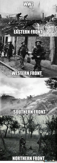 ww2: WW2  EASTERN FRONT  WESTERN FRONT  SOUTHERN FRONT  NORTHERN FRONT  memecenter.com emetentera