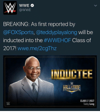 Memes, Nascar, and Induct: WWE  WWE  BREAKING: As first reported by  @FOXSports, a teddyplayalong will be  inducted into the  #WWEHOF Class of  2017!  wwwe.me/2cgThz  CLASS OF 2017  Teddy Long 😒😒😒😒😒😒😒😒😒😒😒😒😒 wwe wweraw wwelife wwelive wwememes wwefunny wrestling wwenetwork wwenxt tna nxt memes funny likeforlike like4like gta ps4 xboxone xbox wwefan myfan nba nfl nhl nascar girls mygirls fungirls wwedivas