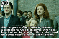 Sorry for this bad edit, but I'm sooo tired, so goooood night <333 - QOTD Who's your favourite character in Harry Potter and the Cursed child?: WWEASLEYSTWINS  After Hogwarts, Ginny Weasley became  a professional Quidaitch player. When she  later had her first son with Harry, she joined  the sports editorial staft of Daily Prophet. Sorry for this bad edit, but I'm sooo tired, so goooood night <333 - QOTD Who's your favourite character in Harry Potter and the Cursed child?