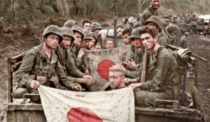 WWII Photo Of Japanese Soldiers Colorized: WWII Photo Of Japanese Soldiers Colorized