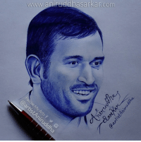 My 2nd attempt with a ballpoint pen :) Portrait of MS Dhoni <3 Sketch By Me~ Aniruddha Sarkar Like👉 Aniruddha Sarkar 👌 for more awesome drawings: fb.com/artistAniruddha ~ www.aniruddhasarkar.com ~: www.anipuddhasarkar com My 2nd attempt with a ballpoint pen :) Portrait of MS Dhoni <3 Sketch By Me~ Aniruddha Sarkar Like👉 Aniruddha Sarkar 👌 for more awesome drawings: fb.com/artistAniruddha ~ www.aniruddhasarkar.com ~