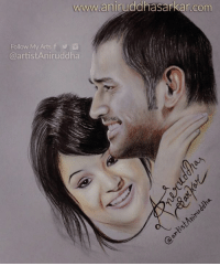 MS Dhoni & Sakshi ❤❤ Cutest Couple of Cricket World !  Surprise Your Loved Ones With A Portrait Sketch. :) Do contact me for more details: m.me/artistAniruddha Sketch By Me~ Aniruddha Sarkar Like👉 Aniruddha Sarkar 👌 for more awesome drawings: fb.com/artistAniruddha ~ www.aniruddhasarkar.com ~: www.anirudd  Follow My Arts f  Ca artistAniruddha MS Dhoni & Sakshi ❤❤ Cutest Couple of Cricket World !  Surprise Your Loved Ones With A Portrait Sketch. :) Do contact me for more details: m.me/artistAniruddha Sketch By Me~ Aniruddha Sarkar Like👉 Aniruddha Sarkar 👌 for more awesome drawings: fb.com/artistAniruddha ~ www.aniruddhasarkar.com ~