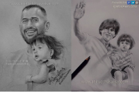 Who Is The Best Father-Kid Jodi? ;)  1. MS Dhoni & Ziva 2. Shah Rukh Khan & AbRam  Sketches By Me~ Aniruddha Sarkar Like👉 Aniruddha Sarkar 👌 for more awesome drawings: fb.com/artistAniruddha ~ www.aniruddhasarkar.com ~: www.aniruddhasarkar Com  @artist Aniruddha  Follow My Arts f G  GaartistAniruddha  hasarkan.com Who Is The Best Father-Kid Jodi? ;)  1. MS Dhoni & Ziva 2. Shah Rukh Khan & AbRam  Sketches By Me~ Aniruddha Sarkar Like👉 Aniruddha Sarkar 👌 for more awesome drawings: fb.com/artistAniruddha ~ www.aniruddhasarkar.com ~
