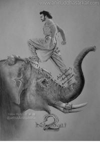 Memes, 🤖, and Baahubali: www.aniruddhasarkar  Follow My Arts  f  @artist Aniruddha Here is Brand New Poster Sketch of the most awaited Movie of the year Baahubali 2 It's bigger, better & grander. It's not just a #Movie.. It's a #Epic and Pride of Indian cinema.. Prabhas SS Rajamouli Anushka Shetty Rana Daggubati  #Bahubali2 #BahubaliTheconclusion #Prabhas #Baahubali2 Sketch By Me~ Aniruddha Sarkar Like👉 Aniruddha Sarkar 👌 for more awesome drawings: fb.com/artistAniruddha ~ www.aniruddhasarkar.com ~