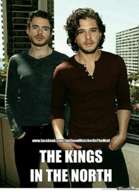 Facebook, Memes, and facebook.com: www.facebook.com/jonsnowWatcheronTheWall  THE KINGS  IN THE NORTH The Young Wolf and The White Wolf!