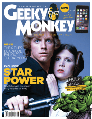 meme-mage:  GEEKY MONKEYGET THE FIRST 3 ISSUES FOR JUST £5! SAVE £7.75!http://www.geekymonkey.tv/magazine: Www.GE EKYMONKEY.TV  NEW  Y  ЕЕКУ  All the  latest Apps  Stacks  MONKEY  MOVIES | GAMES TV| TECH  INSIDE  THE X-FILES  DEADPOOL  FALLOUT 4  THE BATMOBILE  EXCLUSIVE  STAR  POWER  HULK  SMASH!  How Marvel destroyed  | the comic industry  Revolution and revisionism  in a galaxy far, far away  £4.25  ISSUE 1OCT 2015  9 772053 116007 meme-mage:  GEEKY MONKEYGET THE FIRST 3 ISSUES FOR JUST £5! SAVE £7.75!http://www.geekymonkey.tv/magazine