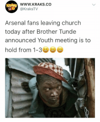 😭😭😭😂😂 Tag an arsenal fan ⬇️⬇️⬇️ . . krakstv arsenal epl football: WWW.KRAKS.CO  @KraksTV  Arsenal fans leaving church  today after Brother Tunde  announced Youth meeting is to  hold from 1-3e 😭😭😭😂😂 Tag an arsenal fan ⬇️⬇️⬇️ . . krakstv arsenal epl football