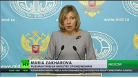 'New form of segregation?': Moscow reacts to US State Dept treatment of RT reporter READ MORE: http://on.rt.com/7vf0: www.mid.ru  mid.ru  V 4 EAEP  MARIA ZAKHAROVA  MOSCOW  mid  RUSSIAN FOREIGN MINISTRY SPOKESWOMAN  NEW YORK 14:05  RUSSNANDEFENCEMINISTRY:THREEALNUSRA COMMANDERSKILLEDINSTRIKESFROMAIRCRAFTCARRIERADMIRALKUZNETSOV 'New form of segregation?': Moscow reacts to US State Dept treatment of RT reporter READ MORE: http://on.rt.com/7vf0