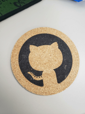 Started new job recently and someone here left me a GitHub coaster.: www.ml Started new job recently and someone here left me a GitHub coaster.