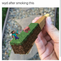 wyd after smoking this  @savagemellow Wyd??? Realistically imma just be dead, but if I'm lucky then maybe I'll be able to find a new minecraft girlfriend😩 once she see's my diamond armour it's game over😤😎 . •🍩c (original content)• . (clink link in bio for a free ass eating done by yours truly😳) . . •Follow @savagemellow for more memes daily!• . . lmao funnyshit hilarious humor jokes fun nochill follow lol haha meme dead instafunny bruh tumblr hitler jews funny cancerous satire bleach comedy SJW humour followme memes filthyfrank papufranku