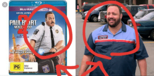 Any1 notic that Paul Blart from the movie Paul Mall Cop 2 look like Eric frm the greattest fillm film of all time grown ups 2!!!😧🙀🤬: X  BerroyD  BLU-RAY  SITAL  JLTRAVIDLET A  KEVIN JAMES  PAUL B' ART  MALL OP  BLA  RIDES A N  LAMONSOFT  ACOMEDYFO  THE WHOLE FAMIL  PG  Mild  Violence  EST OR  PULIC Any1 notic that Paul Blart from the movie Paul Mall Cop 2 look like Eric frm the greattest fillm film of all time grown ups 2!!!😧🙀🤬