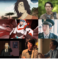 """American Dad, Drunk, and Memes: X Happy Birthday to WAN really cool guy Steven Yuen, who portrayed the first Avatar. He is best known for his role on the hit show """"The Walking Dead"""". What are your favorite characters played by Steven Yuen? -MrBKainX Featured Roles:  Glenn Rhee on The Walking Dead, Keith from Voltron: Legendary Defender, Daniel Inouye from Drunk History, Charles from American Dad, Chaz from My Name is Jerry, and Kenny from I Origins."""
