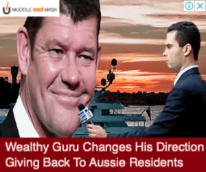 Photoshop, Aussie, and Back: X  MUDDLE and MASH  Wealthy Guru Changes His Direction  Giving Back To Aussie Residents The designer behind ad i got has some quality Photoshop skills