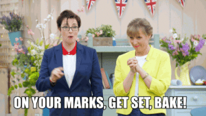 X4 ON YOUR MARKS GET SET BAKE! The Great British Bake Off! - The ...