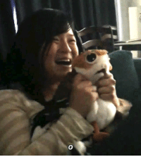 Cute, Tumblr, and Blog: xaniaz:  Kelly Marie Tran is the ultimate Porg lover. Gah, it's too cute it brings tears to my eyes.