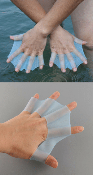 Target, Tumblr, and Blog: xarvist:  odditymall:  These webbed finger swimming fins would be perfect for snorkeling or scuba diving! More info:http://odditymall.com/webbed-finger-swimming-fins  OK but check THIS out