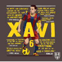 "HBD, Xavi Maestro ⚽️💫: ""XAVI WAS MY MIRROR  HE WOULD MAKE GREAT  ""FOOTBALL IN ITS  ""WE WASTE TIME CONSTANTI  By DOING SIMPLE THINGS  LOOKING FOR THE  REPLAGEMENT FOR XAV  THERE WILL NEYER  THINGS  HAPPEN.""  THIAGO ALCANTARA  BE ANOTHER XAVT""  CESC FABREGAS  PUREST FORM.  GERGIO RAMOS  EVERYONE IS FASGINATE  By THEWAY NE MOVES  ""AN AMAZING PLAYER.  BUT HE NEVER WANTED  TO BE THE HERO  -  THE BALL AROUND.""  EVERYTHING  HE DID WAS FOR THE  KER CASILLAS  ""HE SEES PASSES THAT  ONLY HE SEES.""  G0OD OF BARGELONA.'""  LIONEL MESS  RIVALDO BR  FOOTBALL HBD, Xavi Maestro ⚽️💫"