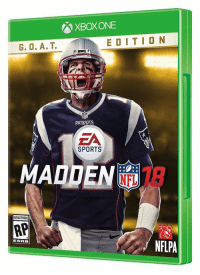 do cheat codes come activated? https://t.co/TudYF0zeeg: XBox ONE  E D I T I O N  G. O, A. T.  TS  PA  EA  SPORTS  MADDEN  RATING PENDING  ESRB do cheat codes come activated? https://t.co/TudYF0zeeg