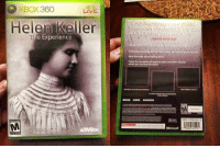 Fall, It's Lit, and Lit: XBOX360  LIVE.  Helen Keller  he Experience  A GRIPPING ADVENTURE  Game Informer  Dive into the dark world of Helen Kel eti  Beat the odds by  falling down.  sensation of as your controller vibrates  when you the table! ITS LIT 🔥