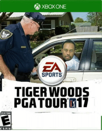 Tiger Woods 17 gonna be 🔥🔥🔥: XBOXONE  EA  SPORTS  TIGER WOODS  PGA TOUR K17  EVERYONE  ESRB  L Tiger Woods 17 gonna be 🔥🔥🔥