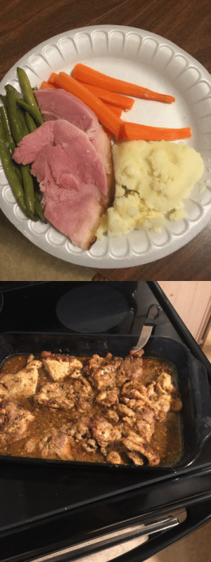 xelamanrique318:  c-bassmeow:  The first picture is from a white people Christmas party: ham with literally no seasoning maybe sugar on the edges, boiled carrots with a slight fart of flavor that was in the water when they were boiled, and boiled string beans with a hint of despair.   On the right is some chicken I seasoned. Took me maybe five minutes. I rubbed the chicken with ancho chilli and garlic. I added cumin, sea salt, pepper,  a few spice blends, curry, soy sauce, freshly squeezed lime and orange. It had flavor.   Idk why y'all don't season your food. Legit every culture in the world does it wtf.  the mashed potatoes don't even look right. how do you fuck up mashed potatoes?????  Oh yeah I didnt even mention the mashed potatoes. Like how the fuck did they end up looking like foreskin cheese: xelamanrique318:  c-bassmeow:  The first picture is from a white people Christmas party: ham with literally no seasoning maybe sugar on the edges, boiled carrots with a slight fart of flavor that was in the water when they were boiled, and boiled string beans with a hint of despair.   On the right is some chicken I seasoned. Took me maybe five minutes. I rubbed the chicken with ancho chilli and garlic. I added cumin, sea salt, pepper,  a few spice blends, curry, soy sauce, freshly squeezed lime and orange. It had flavor.   Idk why y'all don't season your food. Legit every culture in the world does it wtf.  the mashed potatoes don't even look right. how do you fuck up mashed potatoes?????  Oh yeah I didnt even mention the mashed potatoes. Like how the fuck did they end up looking like foreskin cheese