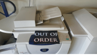 Xerox  OUT OF  ORDER Special Print Job Unit