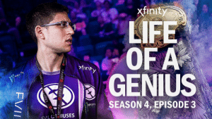 """Work together, talk to each other… and win.""  We kick off our special two-part #TI9 @Xfinity Life of a Genius episode with a look into our bootcamp, the rough start to our group stage, and EG Dota's Main Event comeback vs Team Secret.   Come watch: https://t.co/8htRegIlvm https://t.co/FzDw2riZl5: xfinity  LIFE  OF A  GENIUS  finky  SEASON 4, EPISODE 3  MONSTE  EYIL IUSES  DOTA 2  TA 2 DOTA 2 DOTA 2 or  OTA 2  FVI ""Work together, talk to each other… and win.""  We kick off our special two-part #TI9 @Xfinity Life of a Genius episode with a look into our bootcamp, the rough start to our group stage, and EG Dota's Main Event comeback vs Team Secret.   Come watch: https://t.co/8htRegIlvm https://t.co/FzDw2riZl5"