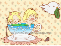 xiaoyugaara:  APH: I heard You like Tea by =xiaoyugaara drew Chibi naked FrUK in a tea cup ^^: xiaoyugaara:  APH: I heard You like Tea by =xiaoyugaara drew Chibi naked FrUK in a tea cup ^^