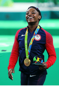"<p><a class=""tumblr_blog"" href=""http://celebritiesofcolor.tumblr.com/post/148708573686"">celebritiesofcolor</a>:</p> <blockquote> <p><small>Simone Biles simles with her gold medal after the medal ceremony for the Artistic Gymnastics Women's Team on Day 4 of the Rio 2016 Olympic Games at the Rio Olympic Arena on August 9, 2016 in Rio de Janeiro, Brazil.</small></p> </blockquote>  <p>Miles of smiles with Biles!</p>: XXXI Olimplada Rio 20 <p><a class=""tumblr_blog"" href=""http://celebritiesofcolor.tumblr.com/post/148708573686"">celebritiesofcolor</a>:</p> <blockquote> <p><small>Simone Biles simles with her gold medal after the medal ceremony for the Artistic Gymnastics Women's Team on Day 4 of the Rio 2016 Olympic Games at the Rio Olympic Arena on August 9, 2016 in Rio de Janeiro, Brazil.</small></p> </blockquote>  <p>Miles of smiles with Biles!</p>"