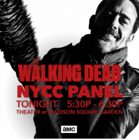 Dank, Live, and Madison Square Garden: Y CPA  TONIG  5:30P  3  THEAT  AT MADISON SQUARE GARDEN  aMC Are you dying to see the #TWD Season 7 Premiere? Stay tuned for live coverage of the panel and a sneak peek at the premiere.