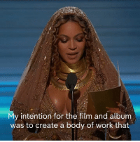 "Memes, 🤖, and Create A: y intention for the film and album  was to create a body of work that ""It's important to me to show images to my children that reflect their beauty, so they can grow up in a world where they look in the mirror...and have no doubt that they are beautiful, intelligent and capable.""   Beyoncé on why she made her political visual album ""Lemonade"", which won urban contemporary record at the 2017 Recording Academy / GRAMMYs."