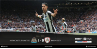 Memes, Twitter, and Cross: y ONUFC  HALF TIME  NEWCASTLE UNITED  I -0  BARNSLEY  NUFCCOUK  PUMAN Wonga  SPORTSDIRECT.coM  f newcastleunited HALF TIME Newcastle United 1-0 Barnsley   It's advantage to the Magpies at half time courtesy of Ayoze Pérez's superb flick into the corner from a DeAndre Yedlin cross.  Second-half updates to follow at www.twitter.com/nufc.  #NUFC