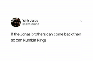 RBD too!: Yahir Jesus  @DiseloYahir  If the Jonas brothers can come back then  so can Kumbia Kingz RBD too!