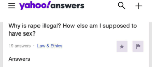 Yahoo! Answers is a treasure trove of edgy 13 year olds: Yahoo! Answers is a treasure trove of edgy 13 year olds