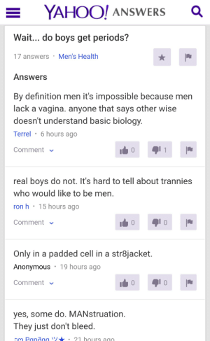 Yahoo answers is the best place for sex ed: Yahoo answers is the best place for sex ed