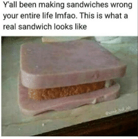 "Funny, Life, and Lol: Y'all been making sandwiches wrong  your entire life Imfao. This is what a  real sandwich looks like  ull ish  @some b 🙌 - 1. Like the post 🙌 - 2. Follow @DNF.Gaming 🙌 - 3. Comment ""Done"" letter by letter! 97% failed 😭 Tags ignore cod callofduty codmemes callofdutymemes lol gamingmemes funnymeme funnymemes blackops nochill funnyaf xbox xbox360 xboxlive playstation psn xboxone xbox360 bo3 bo2 mwr mw3 hashtag modernwarfare hilarious relatable infiniteware meme memes gaming follow4follow"