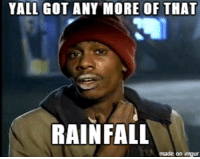 As a Californian watching Hurricane Matthew...: YALL GOT ANY MORE OF THAT  RAINFALL  made on imgur As a Californian watching Hurricane Matthew...