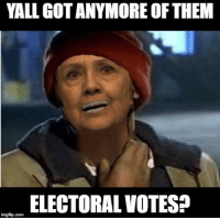 Please I'm fiending: YALL GOTANYMORE OF THEM  ELECTORAL VOTES?  imgfip com Please I'm fiending