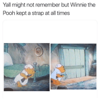 Winnie the Pooh: Yall might not remember but Winnie the  Pooh kept a strap at all times