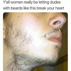 Why yall do that?: Y'all women really be letting dudes  with beards like this break your heart Why yall do that?