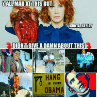 "Ass, Bitch, and Bubba: YALLMADAT THIS BUT  @KUNTA ICEEJAY  DIDNT GIVE A DAMN ABOUT THIS  PRAY  4  ASSASSIN  HANG  IN THERE  OBAMA <p><a href=""http://mygreylord.tumblr.com/post/161301830626/libertarirynn-oh-stfu-i-saw-plenty-of-people"" class=""tumblr_blog"">mygreylord</a>:</p>  <blockquote><p><a href=""https://libertarirynn.tumblr.com/post/161301668219/oh-stfu-i-saw-plenty-of-people-calling-out-this"" class=""tumblr_blog"">libertarirynn</a>:</p><blockquote><p>Oh STFU. I saw *plenty* of people calling out this shit with Obama too. And even then it wasn't major celebrities doing it.</p></blockquote> <p>Agreed except for one thing; that ugly ass bitch ain't no 'major celebrity'</p></blockquote>  <p>That is true but she's more of one than Bubba McHillbilly.</p>"