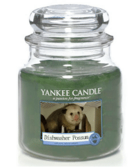 Yankee Candle, Possum, and Passion: YANKEE CANDLE  a passion for fragrance  Dishwasher Possum