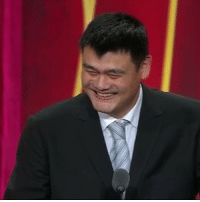 Yao Ming started the night off with a 'practice' joke that made Allen Iverson laugh 16HoopClass (via @nbatv): Yao Ming started the night off with a 'practice' joke that made Allen Iverson laugh 16HoopClass (via @nbatv)