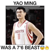 """Yao Ming was a BEAST😱🔥 - 📽: @neverforgetplays Comment """"Giant"""" letter by letter without being interrupted! - Follow (me) @overtimeplayz for more!: YAO MING  TICKETS  WAS A 7'6 BEAST Yao Ming was a BEAST😱🔥 - 📽: @neverforgetplays Comment """"Giant"""" letter by letter without being interrupted! - Follow (me) @overtimeplayz for more!"""